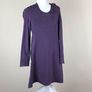 PRANA | Purple Longsleeve Hooded Dress Medium